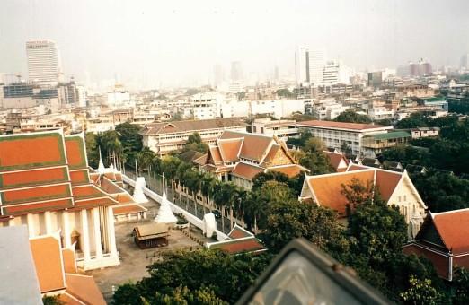 Bangkok vu du temple de Golden Mountain