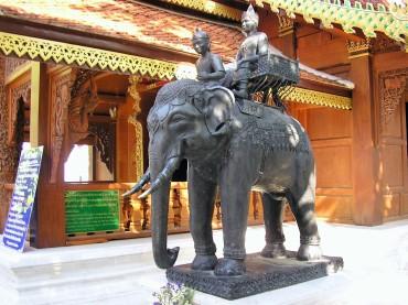 La statue de l'éléphant blanc @thaietvous