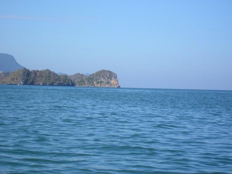 Rocher à tête d'homme, entre Langkawi et la Thaïlande